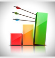 3d chart with arrows vector image