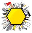 Tool design Object tool Tool service sign and vector image