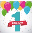 1 Year Celebrating Anniversary graphic vector image