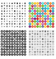 100 heart icons set variant vector image vector image