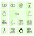 14 ring icons vector image vector image