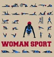 30 sporty woman fitnes vector | Price: 1 Credit (USD $1)