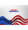 4th july united stated independence day vector image vector image