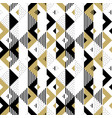 abstract pattern golden geometric ornament gold vector image