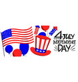 america independent day design template festive vector image