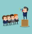 businessman leading teamwork vector image vector image