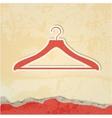 clothes hanger retro poster vector image vector image