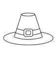 clothing hat cartoon vector image