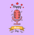 collection music day card style vector image vector image