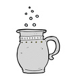 comic cartoon beer tankard vector image vector image