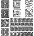 contour drawings set various abstract design vector image vector image