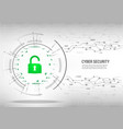 cyber security concept on digital white background vector image