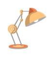 desk light lamp icon in flat style vector image vector image