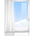 detail of a window white room vector image vector image