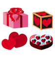 different gift boxes for valentine vector image
