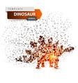 dino dinosaur - glare dot vector image vector image