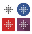 dotted icon sun sunny weather in four variants vector image