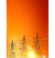 Electrical pylons vector image vector image