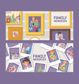 fimily memories set banners vector image