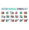 financial symbols set vector image