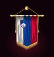 flag of slovenia festive vertical banner wall vector image vector image