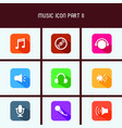 flat design music icon part ii vector image vector image