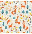 Fox in autumn forest vector image vector image