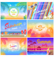hot summer party 2018 hello summer mood banner vector image vector image