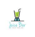 juice logo design vector image