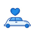 just married line icon vector image vector image