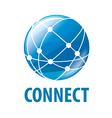 Logo global network worldwide vector image