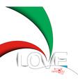 Love Text Design vector image