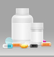 medicine with realistic vector image vector image