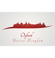 Oxford skyline in red vector image vector image