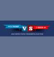 presidential elections in united states vector image vector image