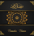 ramadan kareem islamic with arabic pattern vector image