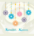 ramadan kareem white background premium design vector image