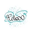 Relax lettering word vector image