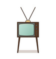 retro tv icon in flat design vector image