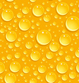 Seamless beer foam background with drops vector image vector image