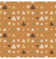 seamless pattern of colored triangles drawn vector image vector image