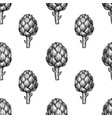 seamless pattern with artichoke vector image vector image