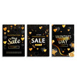set flyers for valentines day big sale vector image vector image