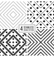 set geometric seamless pattern diagonal lines vector image