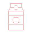 silhouette delicious milk box product to nutrient vector image vector image
