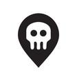 skeleton spot logo vector image vector image