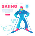 skiing alpine sport design template with vector image