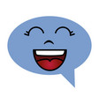 speech bubble message kawaii character vector image