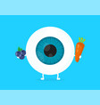 strong healthy white eye eyeball vector image vector image