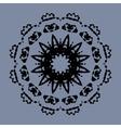 Symmetrical mandala of ink splashes on gray vector image vector image